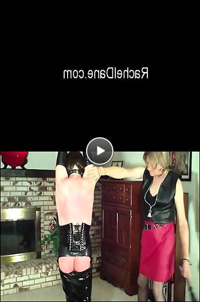 transvestite in latex video
